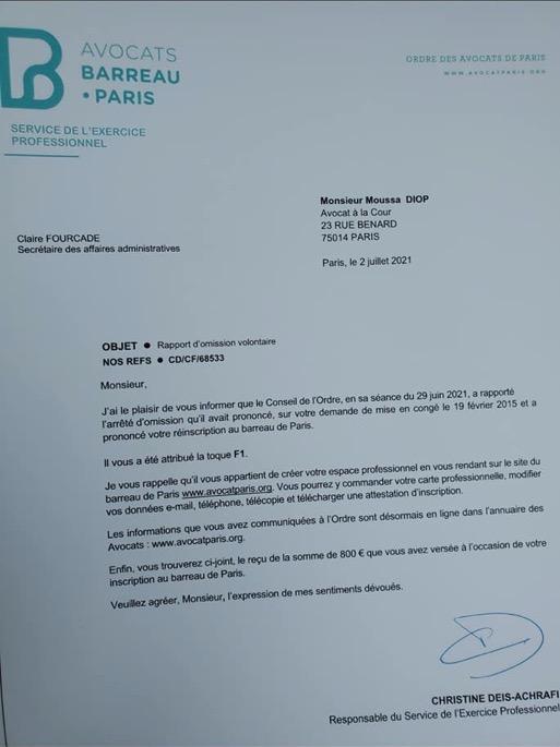 barreau paris - Senenews - Actualité au Sénégal, Politique, Économie, Sport
