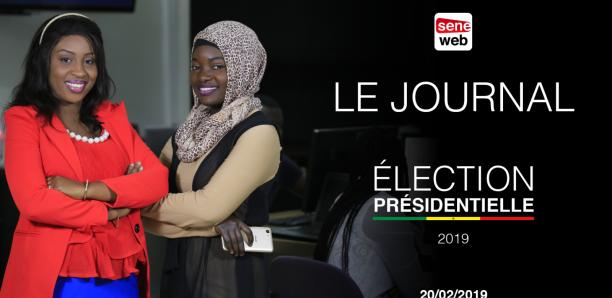 Présidentielle 2019 : Suivez le journal de Seneweb du mercredi 20 février