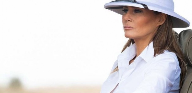 Incident diplomatique au Kenya : Melania Trump choque en portant un chapeau de colon