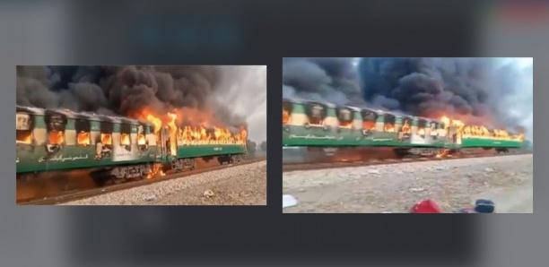 Au moins 65 personnes ont péri dans l'incendie d'un train au Pakistan