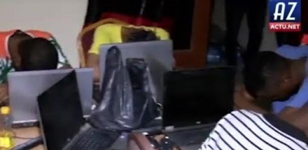 Ouakam: Le film de l'arrestation des 49 cybercriminels