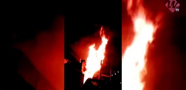Incendie au Poste Courant de Pikine Rue 10