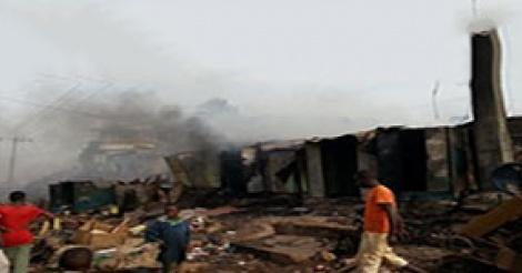 Incendie à Enco 5 : 15 kiosques partis en fumée ce lundi