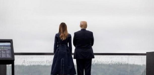 Un détail sur le manteau de Melania Trump aux commémorations du 11-Septembre passe mal