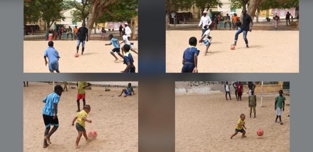 [ARRÊT SUR IMAGE] Quand Kalidou Koulibaly joue au foot avec son fils à Gorée