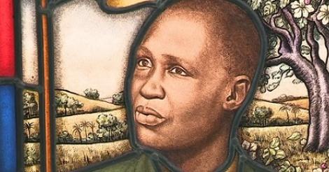 Le portrait sur vitrail d'un guérisseur sénégalais de Roubaix acquis par le musée
