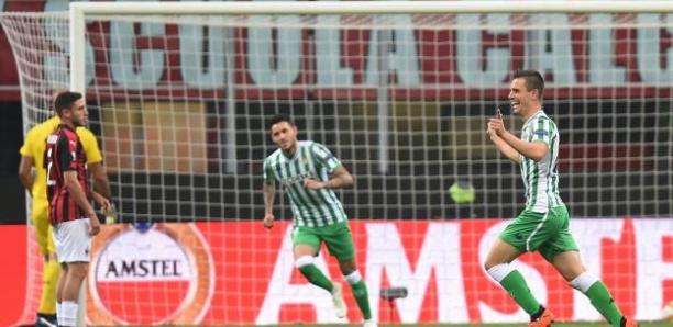 L'AC Milan s'est fait surprendre par le Betis en Ligue Europa