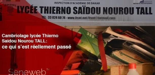 Cambriolage Lycée Saidou Nourou Tall : Les voleurs emportent de l'argent et 50 téléphones confisqués aux élèves