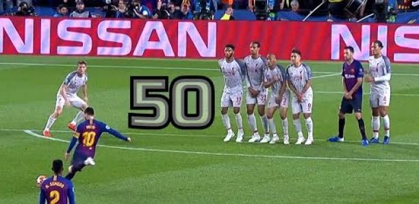 Football : Les 50 coups francs de Lionel Messi à la loupe
