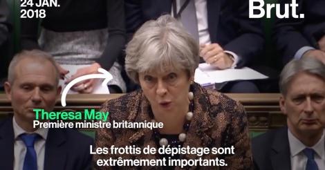 Theresa May incite les femmes à faire des frottis de dépistage