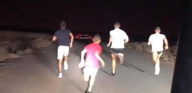 Le footing nocturne de Cristiano Ronaldo à Dubaï