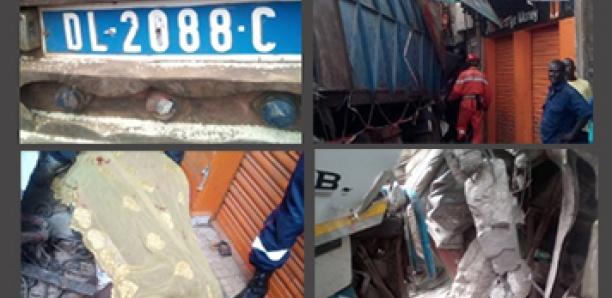 Thiaroye sur Mer : Un camion dérape et fait un carnage dans une boutique