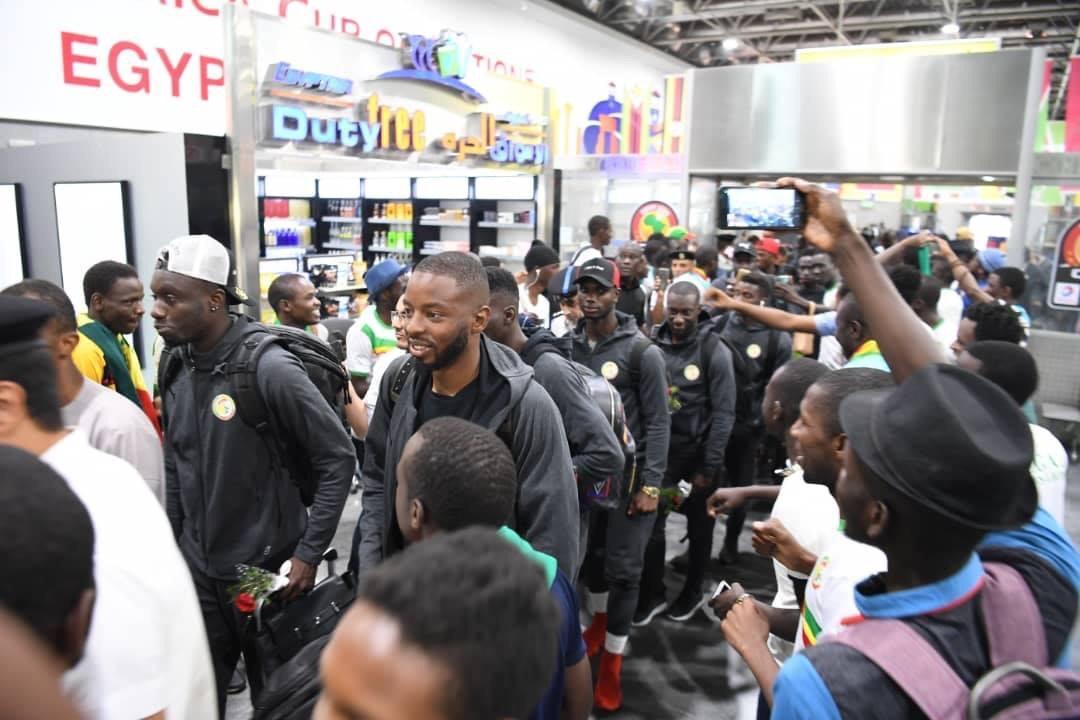 Arrivee Lions Egypte 02 - Senenews - Actualité au Sénégal, Politique, Économie, Sport
