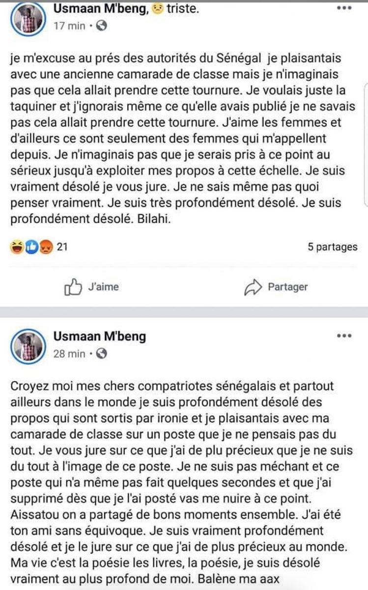 Appel à l'extermination des femmes sénégalaises : Ousmane Mbengue arrêté.