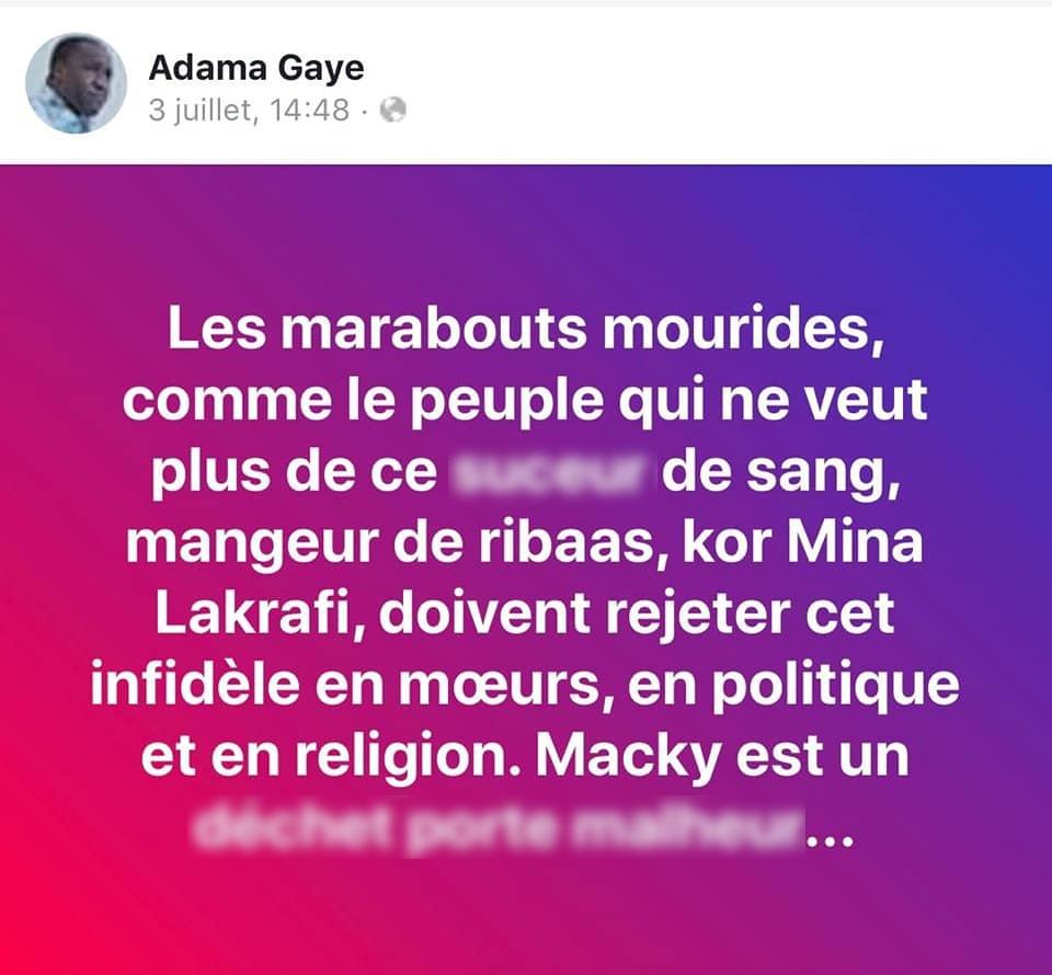 post fb Adama gaye 02 - Senenews - Actualité au Sénégal, Politique, Économie, Sport