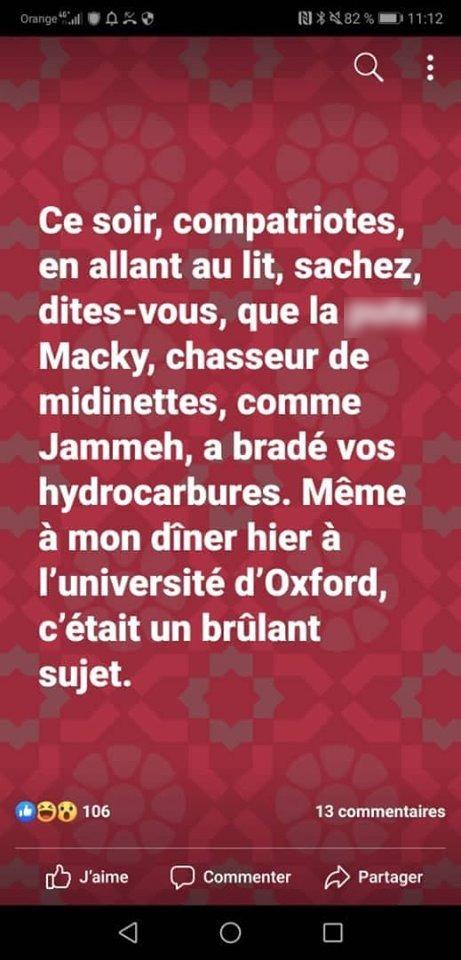post fb Adama gaye 05 - Senenews - Actualité au Sénégal, Politique, Économie, Sport